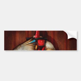 Animal - Chicken - Movie Night Car Bumper Sticker