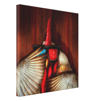 Animal - Chicken - Movie Night Gallery Wrapped Canvas