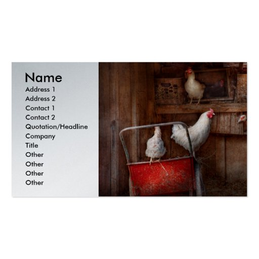 Animal - Chicken - The duck is a spy Business Card Templates