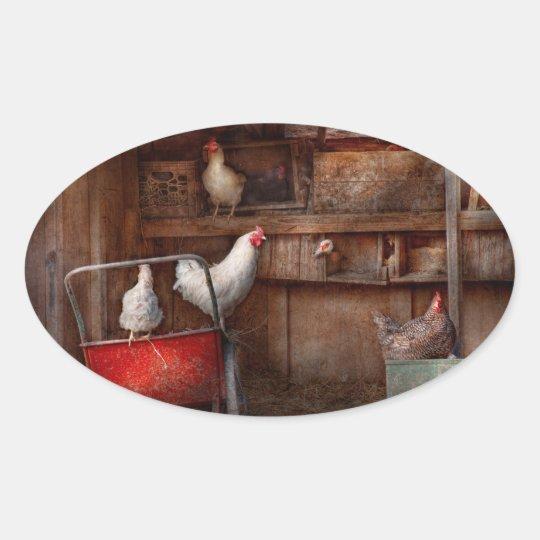 Animal - Chicken - The duck is a spy Oval Sticker