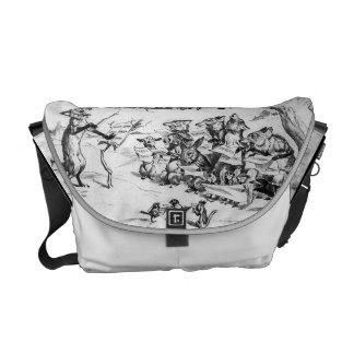 Animal Chorus by Pughe - Vintage Rickshaw Bag Commuter Bag