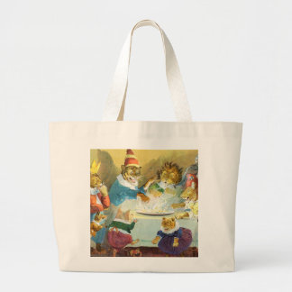 Animal Christmas Party Tote Bags