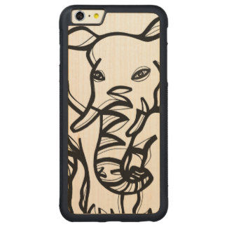 Animal Clever Fabulous Lovely Carved® Maple iPhone 6 Plus Bumper