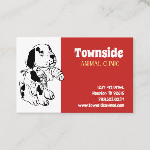 Animal business cards 29700 animal business card templates animal clinic european size business card colourmoves
