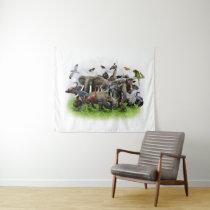 Animal Collage Medium Wall Tapestry