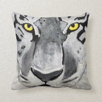 Animal Collection - The Eye Of The Tiger Throw Pillow