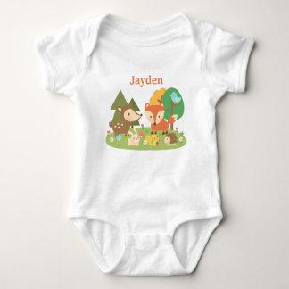 Animal colorido lindo del arbolado para los bebés body para bebé