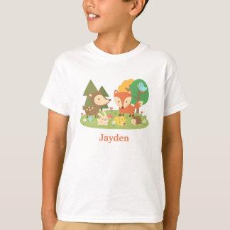 Animal colorido lindo del arbolado para los niños playeras
