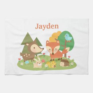 Animal colorido lindo del arbolado para los niños toallas