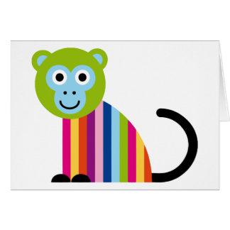 Animal colorido lindo del dibujo animado del tarjeta de felicitación