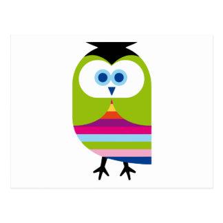 Animal colorido lindo del dibujo animado del postal