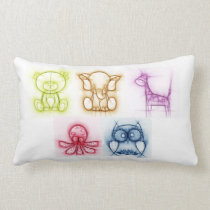 Animal Colors Lumbar Pillow