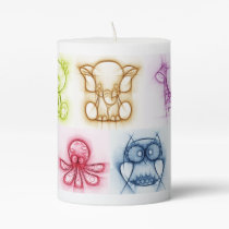 Animal Colors Pillar Candle