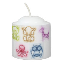 Animal Colors Votive Candle