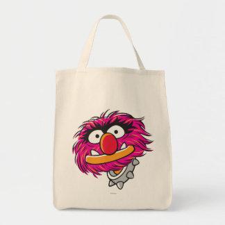 Animal con el cuello bolsa tela para la compra