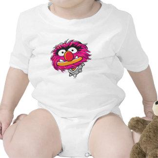 Animal con el cuello traje de bebé