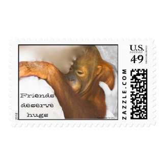Animal Conservation Hug a Friend Postage Stamp