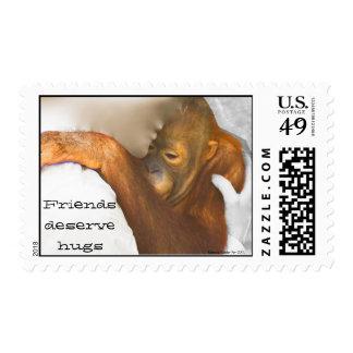 Animal Conservation Hug a Friend Stamp