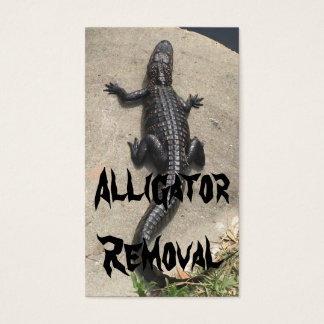 Animal Control Alligator Removal Business Card
