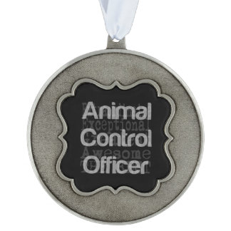 Animal Control Officer Extraordinaire Pewter Ornament