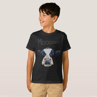 Animal Cow Face Kid's Basic Dark T-Shirt