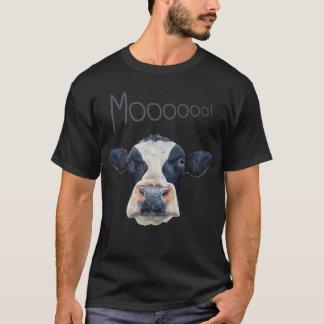 Animal Cow Face Men's Basic Dark T-Shirt