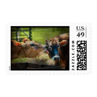 Animal - Cow - Let mommy clean that Postage