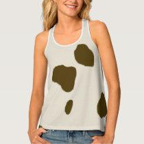 Animal Cow Skin Brown Spots Tank Top