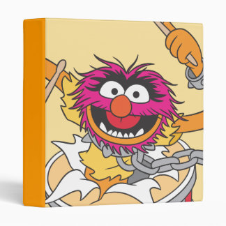 Animal Crashing Through Drums 3 Ring Binder