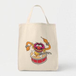 Animal Crashing Through Drums Canvas Bags