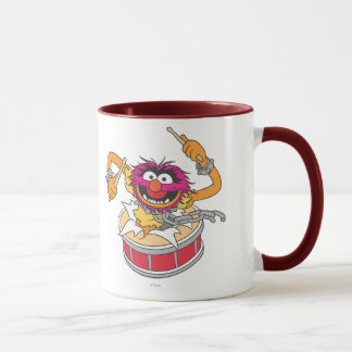Animal Crashing Through Drums Mug