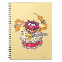 Animal Crashing Through Drums Notebook