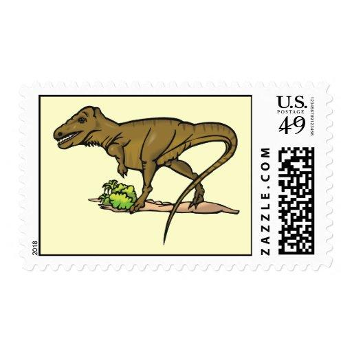 Animal cretáceo de la ciencia del Tyrannosaurus Sello