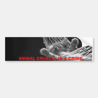 ANIMAL CRUELTY IS A CRIME BUMPER STICKER