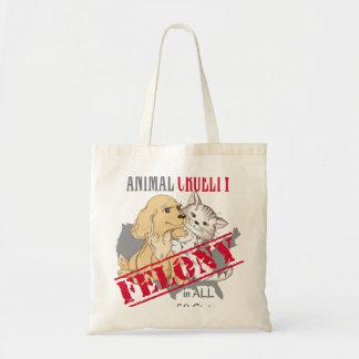 Animal Cruelty is a Felony Tote Bag