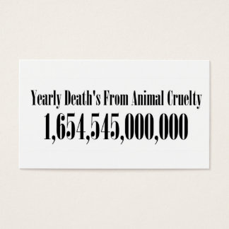 Animal Cruelty Statistics Business Card