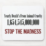 Animal Cruelty Statistics Mousepad