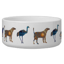 Animal Cut-out Shapes in Rich Gold, Deep Blues Bowl