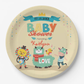 Animal Cuties Celebrate Baby Shower 9 Inch Paper Plate