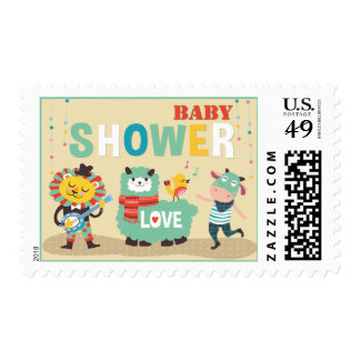 Animal Cuties Celebrate - Neutral Baby Shower Postage