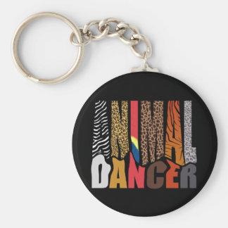 ANIMAL DANCER BASIC ROUND BUTTON KEYCHAIN