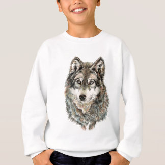 Animal de encargo de la acuarela del lobo del sudadera