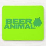 Animal de la cerveza alfombrilla de ratones
