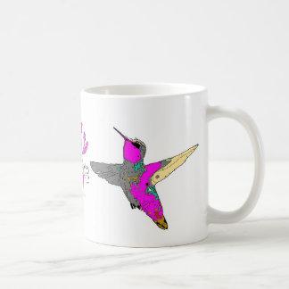 Animal de la fauna del pájaro del colibrí floral taza