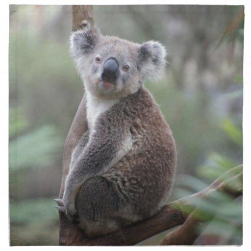 Animal de la koala servilleta imprimida