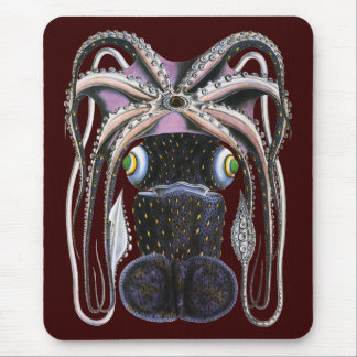 Animal de la vida marina del vintage, pulpo alfombrillas de ratones