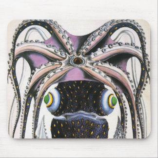 Animal de la vida marina del vintage, pulpo alfombrilla de ratón