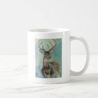 Animal de los ciervos vía arte de la fauna de la a taza de café