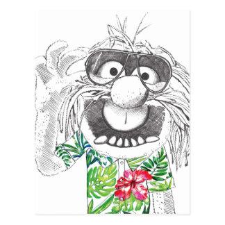 Animal de los Muppets el | en una camisa hawaiana Postales