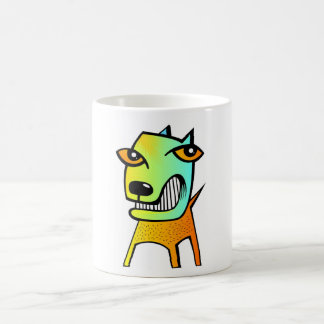 animal de mascota divertido del perro del cubismo taza